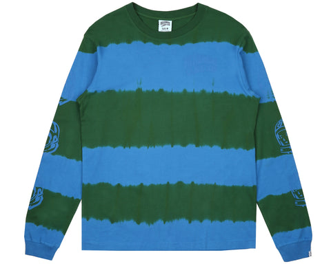Billionaire Boys Club Pre-Fall '18 BLEACH STRIPED L/S T-SHIRT - GREEN