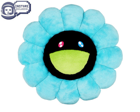 MURAKAMI MURAKAMI FLOWER CUSHION 60CM - BLUE & BLACK