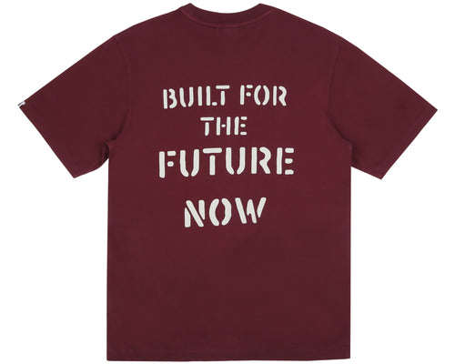 BUILT FOR THE FUTURE NOW T-SHIRT - BURGUNDY