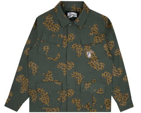 Billionaire Boys Club Pre-Fall '18 CAMO MILITARY OVERSHIRT - OLIVE