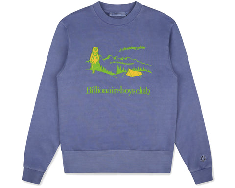 Billionaire Boys Club Fall '19 CAMPSITE PIGMENT DYED CREWNECK - PURPLE