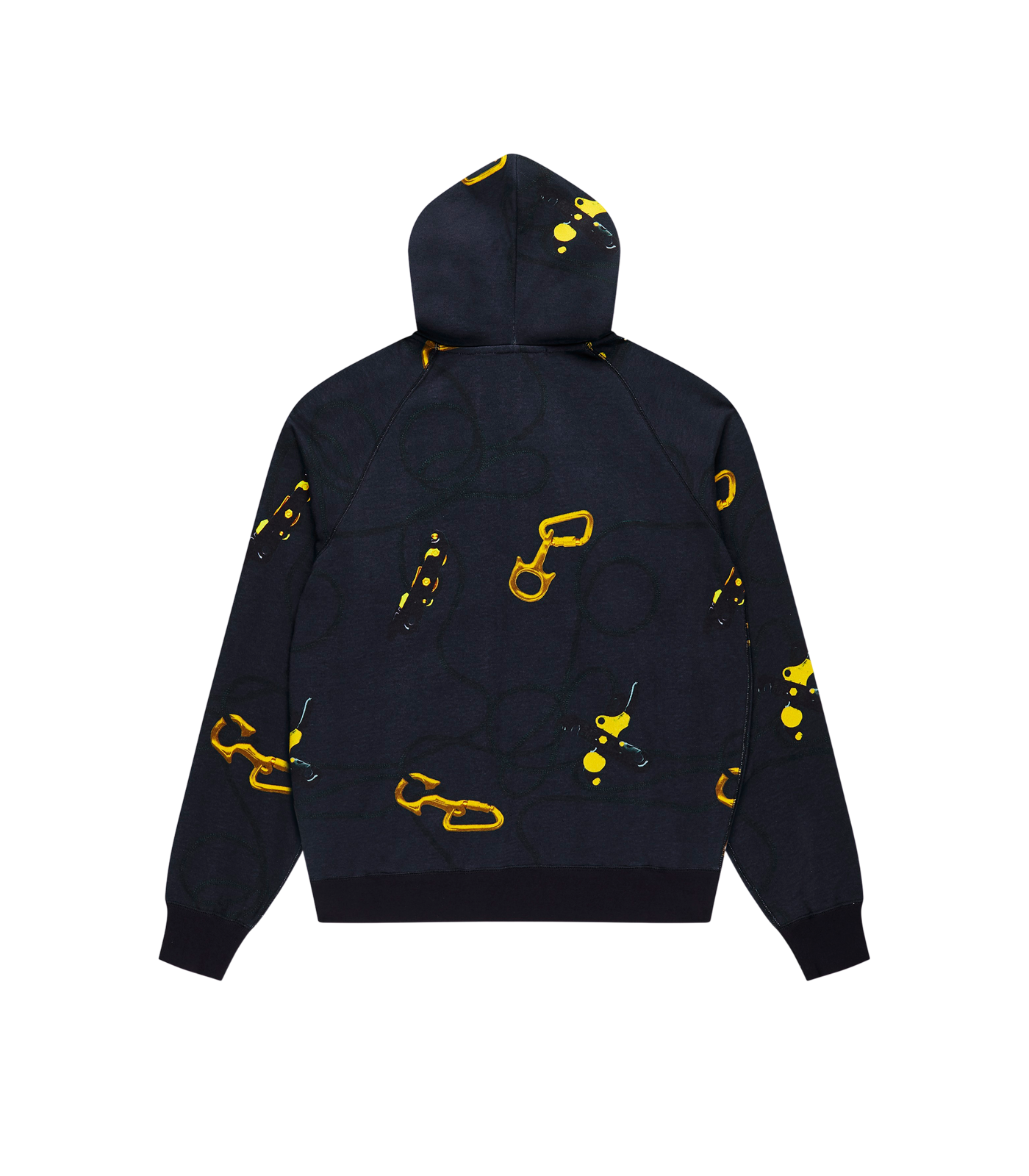 CARABINER ALLOVER PRINT ZIP THROUGH HOOD - NAVY
