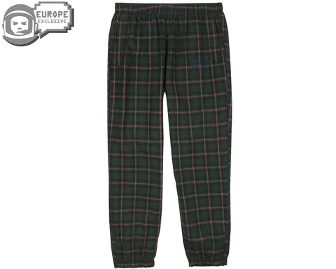 Billionaire Boys Club Fall '18 CHECK TRACK PANTS - GREEN
