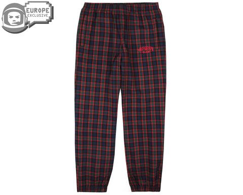 Billionaire Boys Club Fall '18 CHECK TRACK PANTS - RED