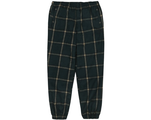 Billionaire Boys Club Pre-Spring '19 WOOL CHECK TRACK PANT - GREEN