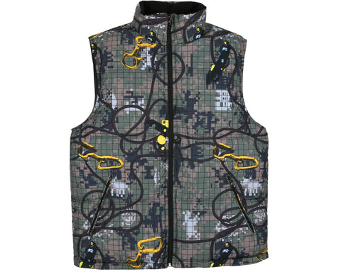 Billionaire Boys Club Fall '18 CLIMBING CAMO REVERSIBLE GILET - CAMO
