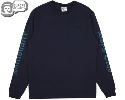 Billionaire Boys Club Fall '18 COLLEGE L/S POCKET T-SHIRT - NAVY