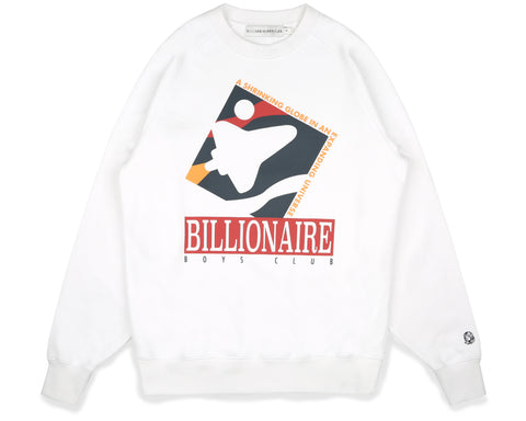Billionaire Boys Club Fall '19 COMMEMORATIVE MISSION CREWNECK - WHITE