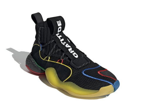 ADIDAS ORIGINALS = PHARRELL WILLIAMS CRAZY BYW LVL X - BLACK/GREEN/YELLOW