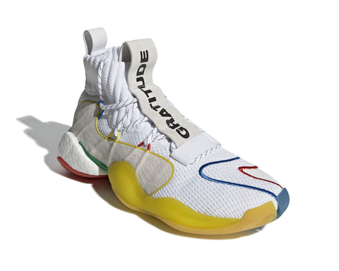 ADIDAS ORIGINALS = PHARRELL WILLIAMS CRAZY BYW LVL X - WHITE