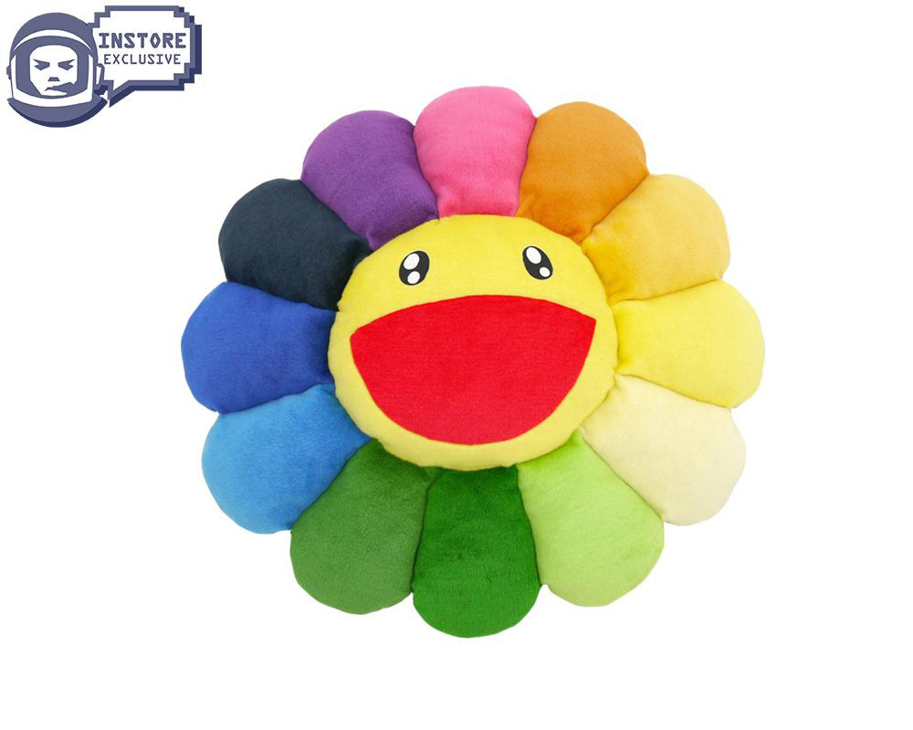 MURAKAMI FLOWER CUSHION 60CM - RAINBOW