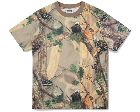 Billionaire Boys Club Fall '19 TREE CAMO ALL OVER PRINT T-SHIRT - BEIGE