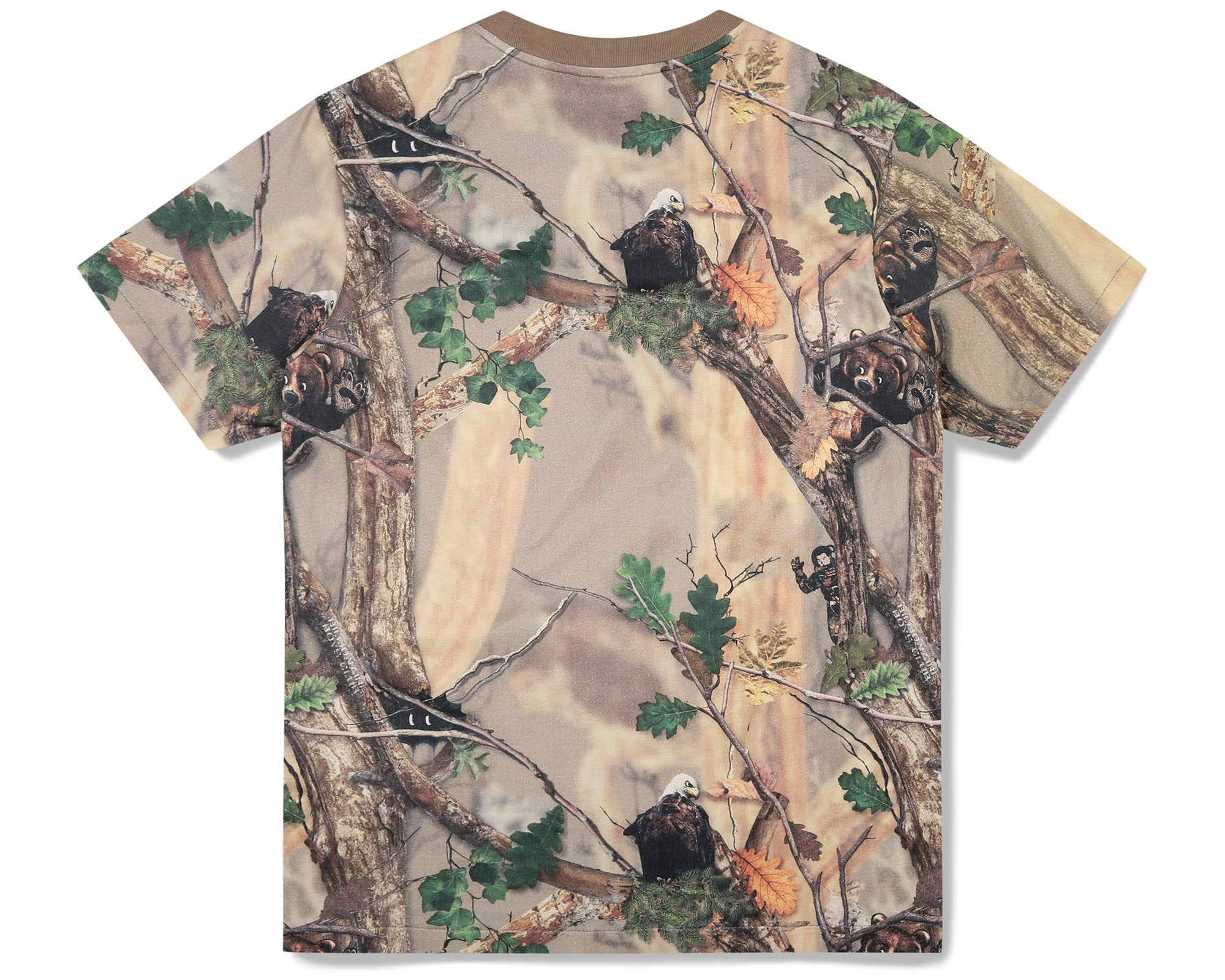 TREE CAMO ALL OVER PRINT T-SHIRT - BEIGE