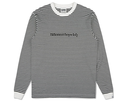 Billionaire Boys Club Fall '19 SMALL STRIPE L/S T-SHIRT - BLACK