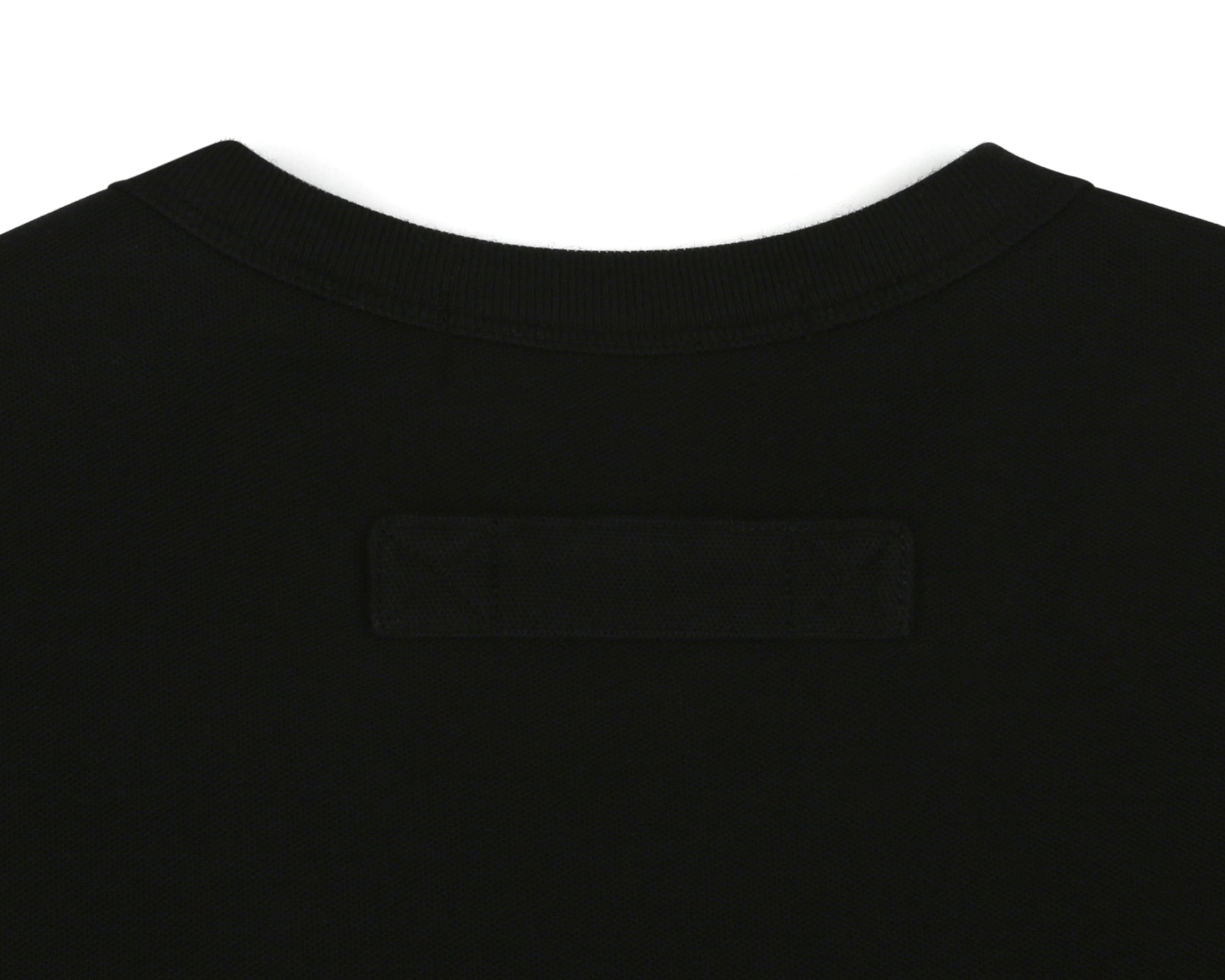 HEAVY PIQUE COTTON T-SHIRT- BLACK