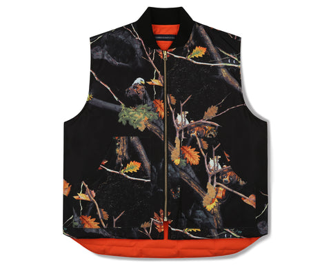 Billionaire Boys Club Fall '19 TREE CAMO REVERSIBLE VEST- BLACK