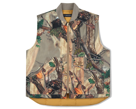 Billionaire Boys Club Fall '19 TREE CAMO REVERSIBLE VEST- BEIGE