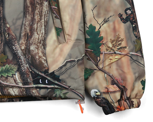 TREE CAMO PADDED ZIP JACKET - BEIGE