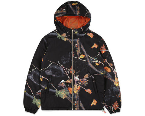 Billionaire Boys Club Fall '19 TREE CAMO PADDED ZIP JACKET - BLACK