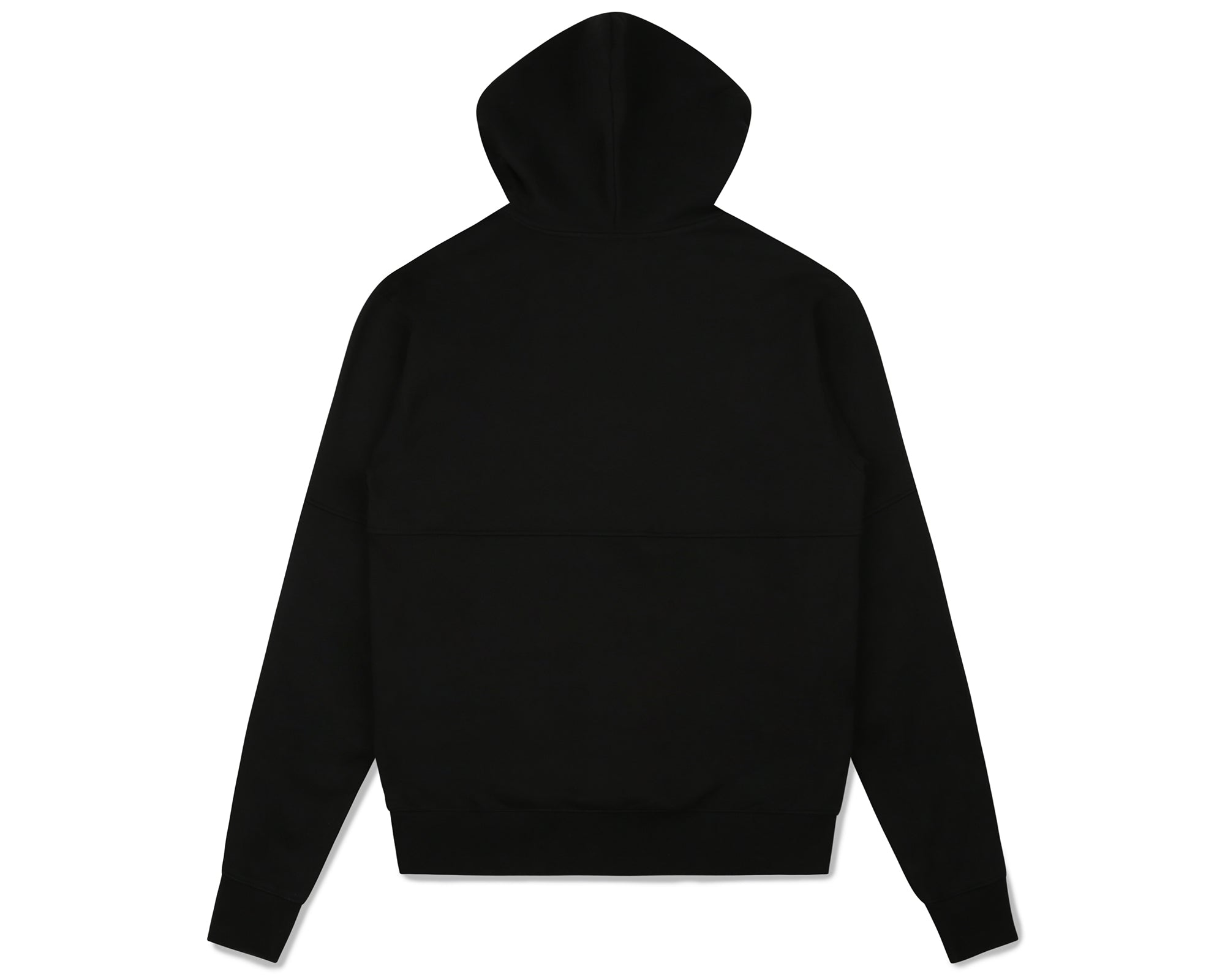ROBOTIC LOGO PANELLED POPOVER HOOD - BLACK