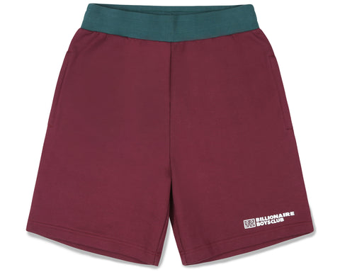 Billionaire Boys Club Fall '19 ROBOTIC LOGO SWEATSHORT - BURGUNDY