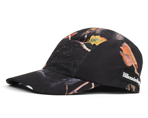 TREE CAMO RUNNING CAP - BLACK