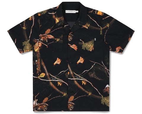 Billionaire Boys Club Fall '19 TREE CAMO BOWLING SHIRT - BLACK
