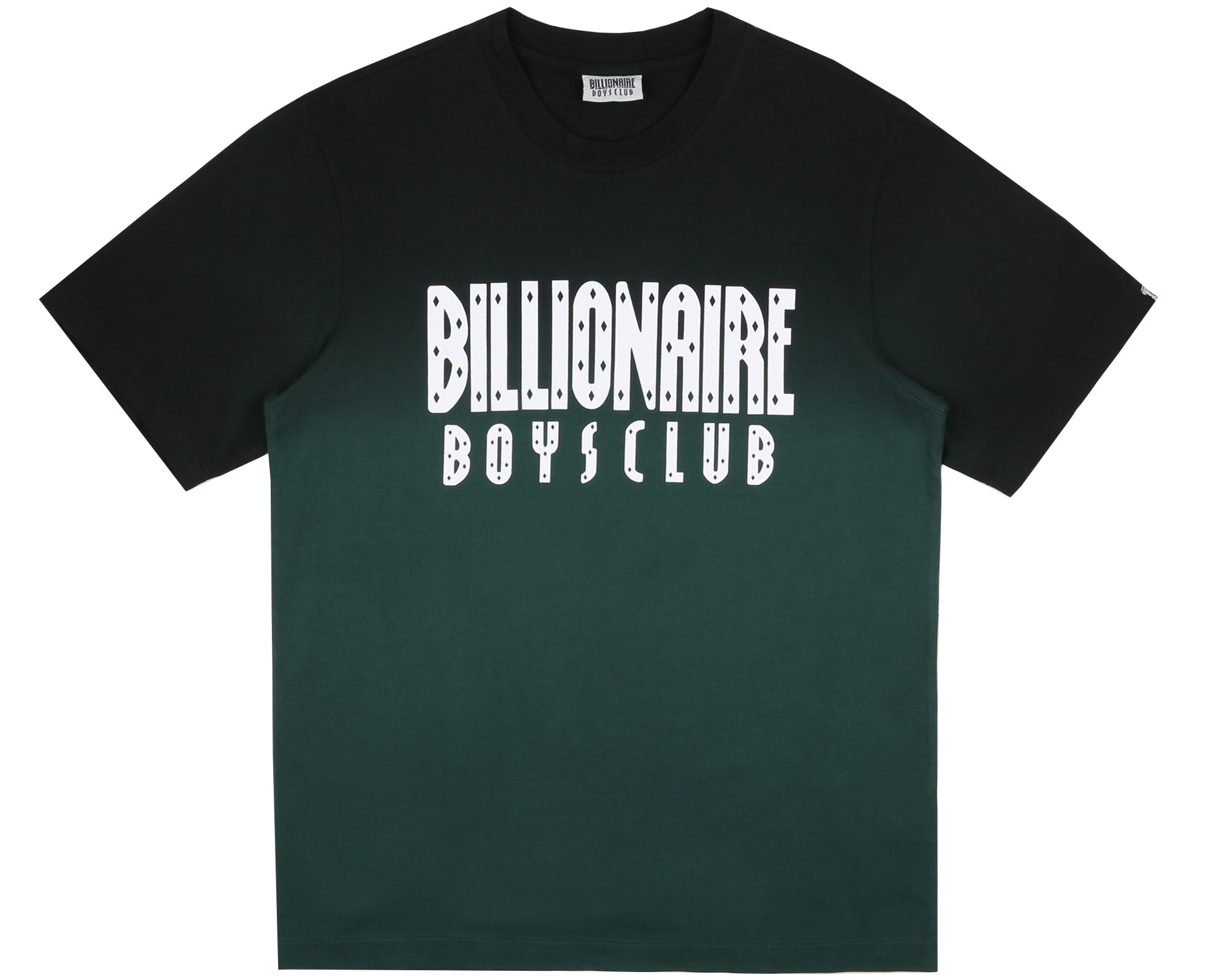 DIP DYE STRAIGHT LOGO T-SHIRT - GREEN