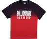 Billionaire Boys Club Pre-Spring '19 DIP DYE STRAIGHT LOGO T-SHIRT - RED