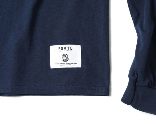 EMBROIDERED L/S T-SHIRT - NAVY