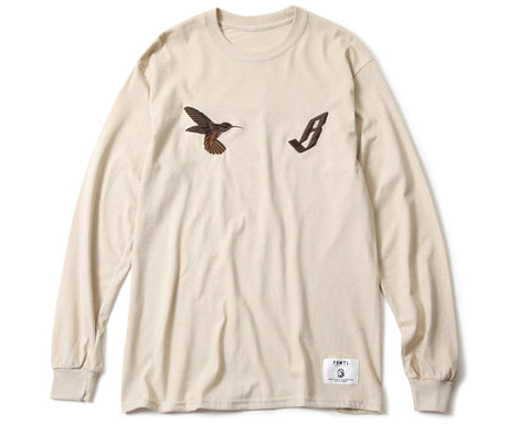 BBC X FDMTL EMBROIDERED L/S T-SHIRT - SAND