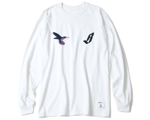 BBC X FDMTL EMBROIDERED L/S T-SHIRT - WHITE
