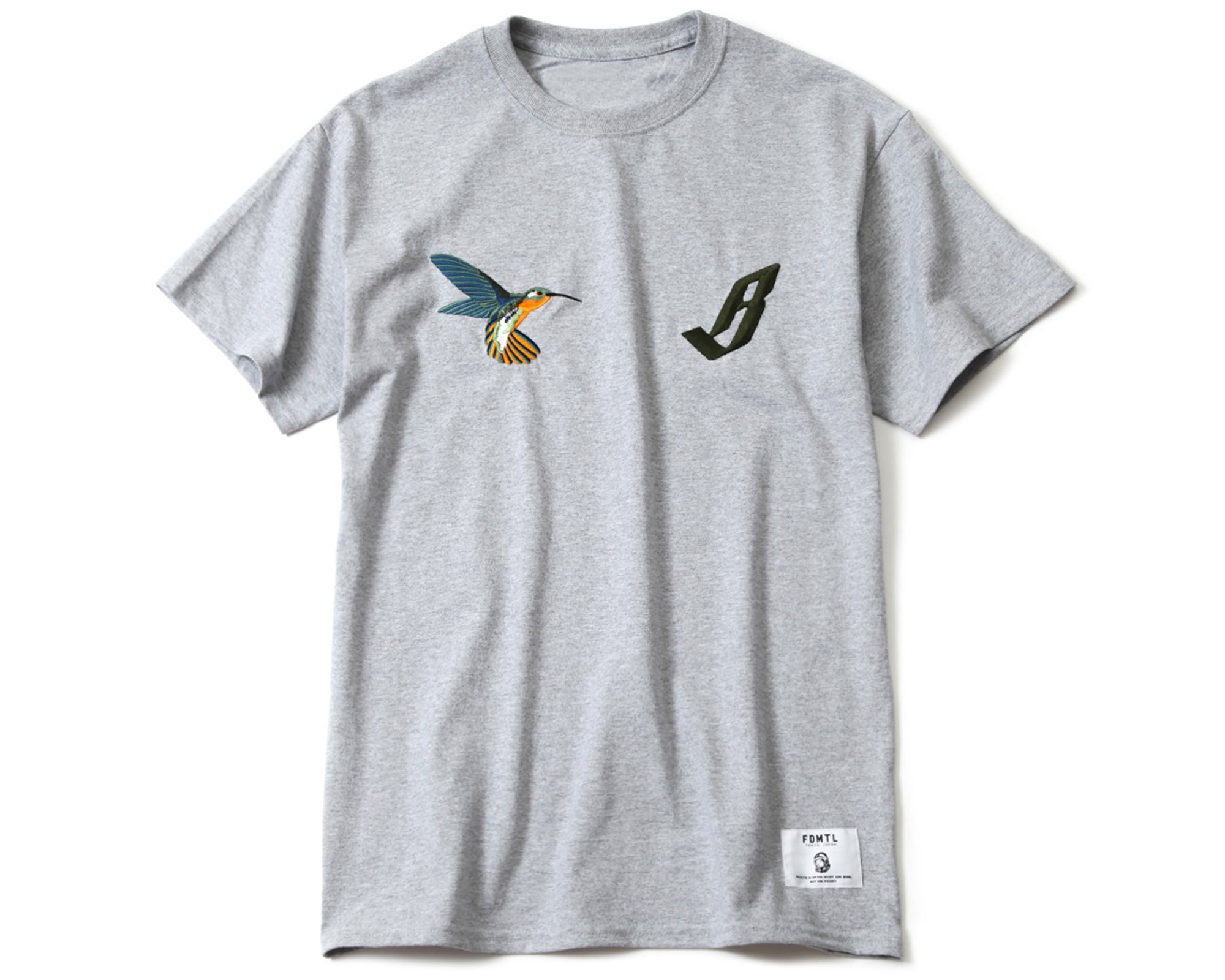 EMBROIDERED T-SHIRT - GREY