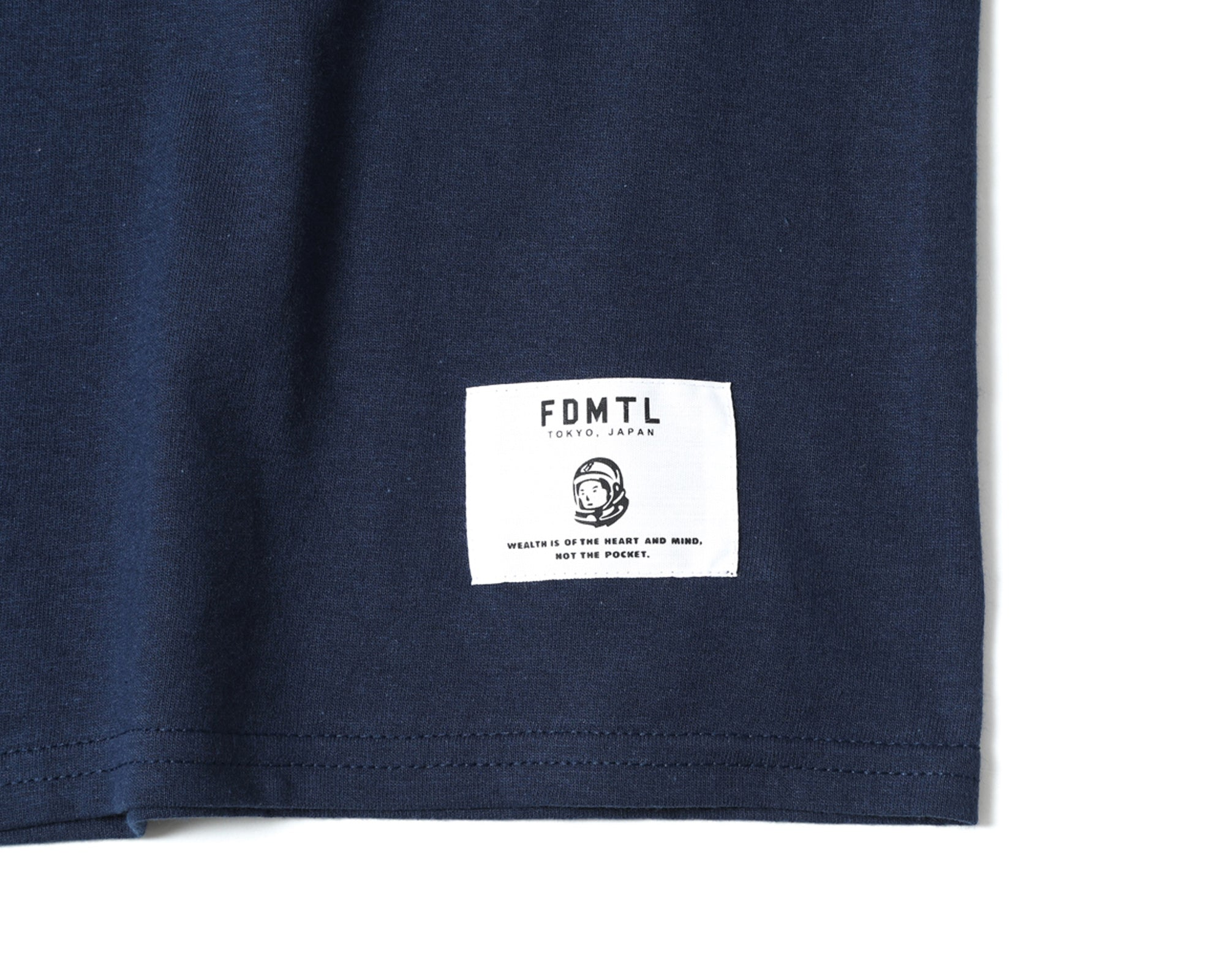 EMBROIDERED T-SHIRT - NAVY