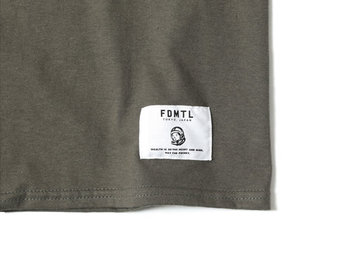 EMBROIDERED T-SHIRT - OLIVE