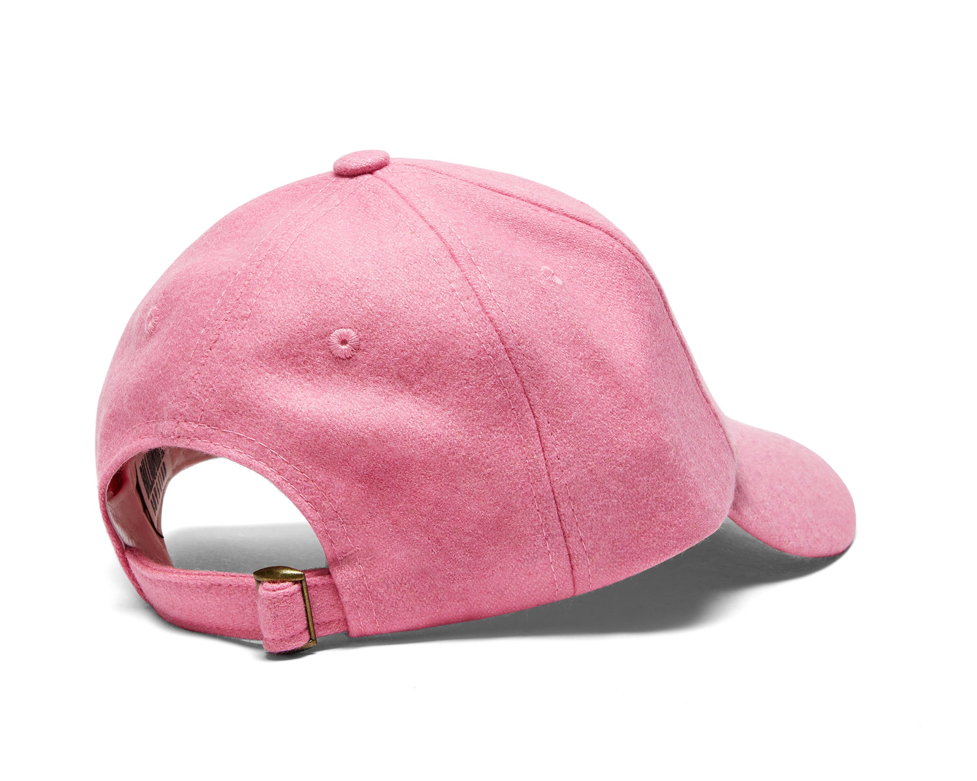 EMBROIDERED WOOL BLEND CAP - PINK
