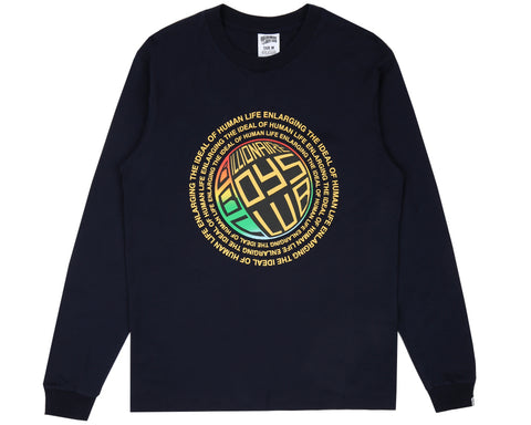 Billionaire Boys Club Pre-Fall '18 ENLARGING THE IDEAL L/S T-SHIRT - DRESS BLUE