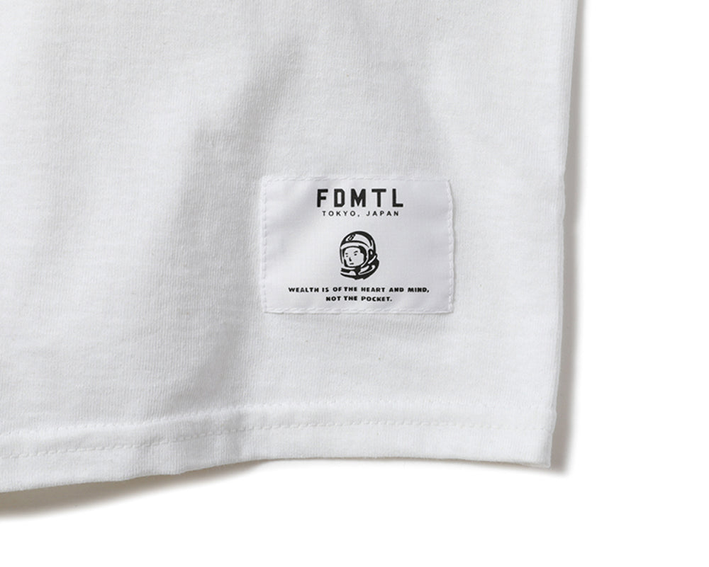 FDMTL LOGO T-SHIRT - WHITE / BLACK