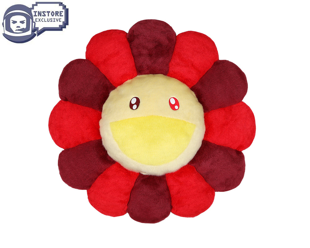 MURAKAMI FLOWER CUSHION 60CM - ROSE RED