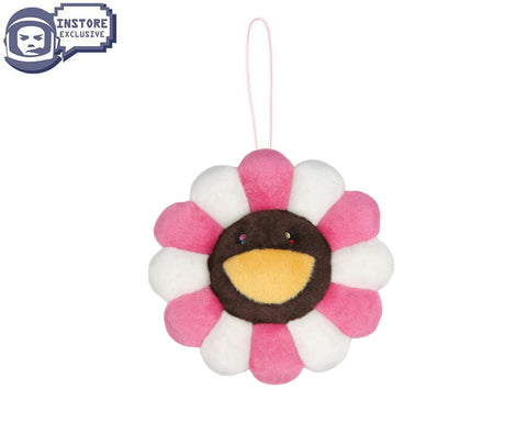 MURAKAMI MURAKAMI FLOWER PLUSH KEY CHAIN - PINK/BROWN