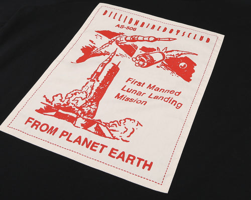 FROM PLANET EARTH PATCH S/S T-SHIRT - BLACK