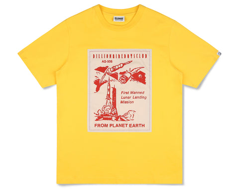 Billionaire Boys Club Fall '19 FROM PLANET EARTH PATCH S/S T-SHIRT - YELLOW