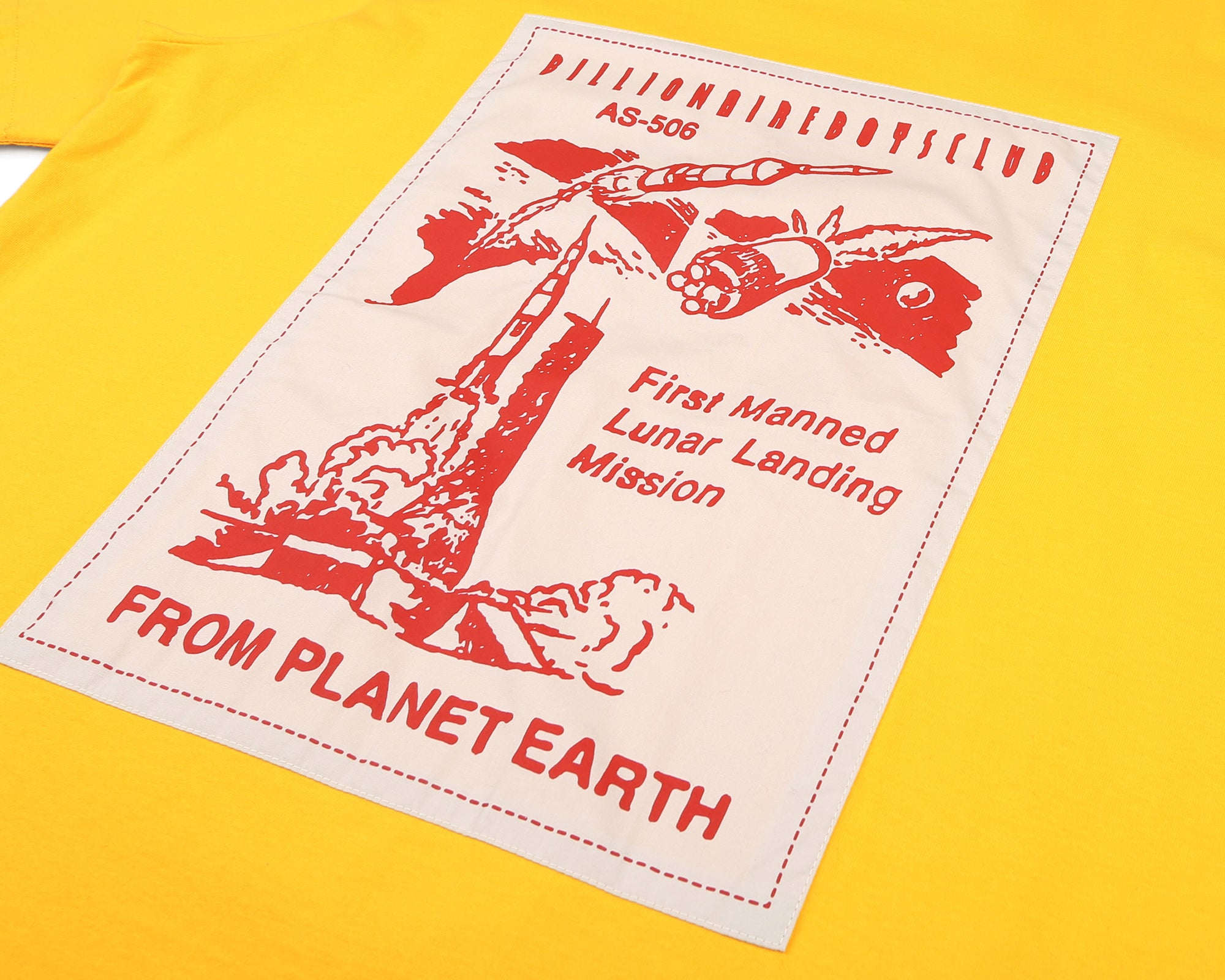 FROM PLANET EARTH PATCH S/S T-SHIRT - YELLOW
