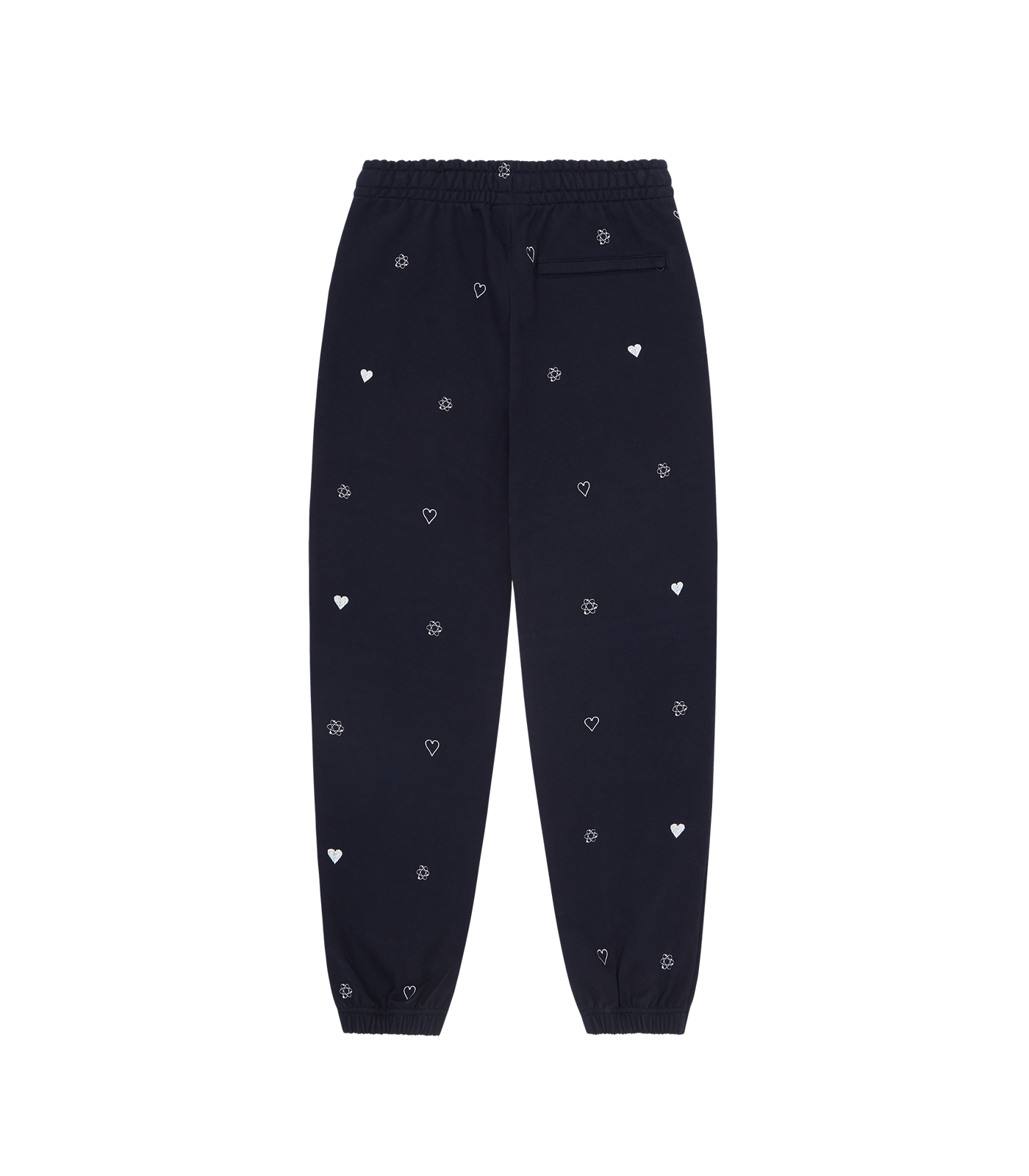 HEART & MIND MONOGRAM EMBROIDERED SWEAT PANT - NAVY