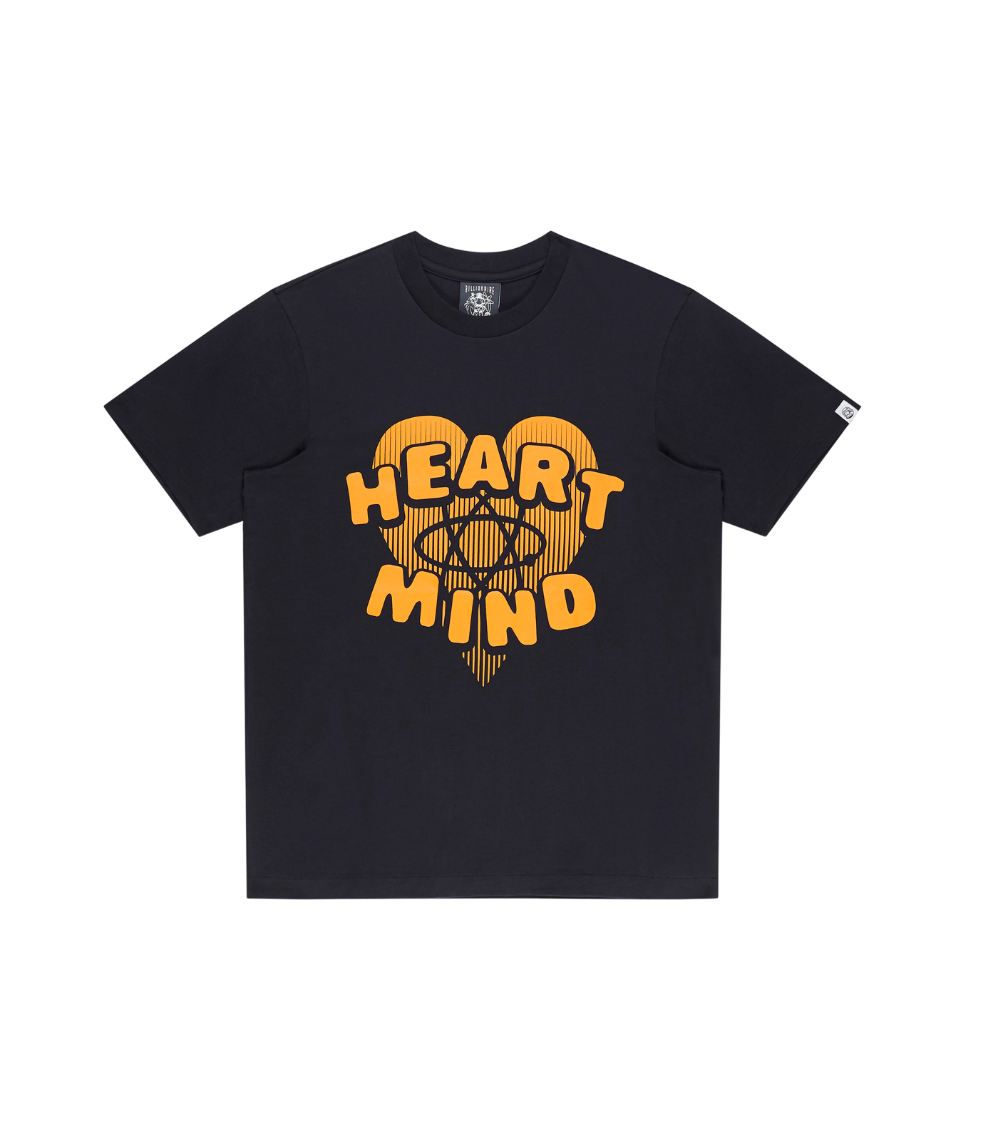 HEART & MIND GRAPHIC T-SHIRT - NAVY/YELLOW