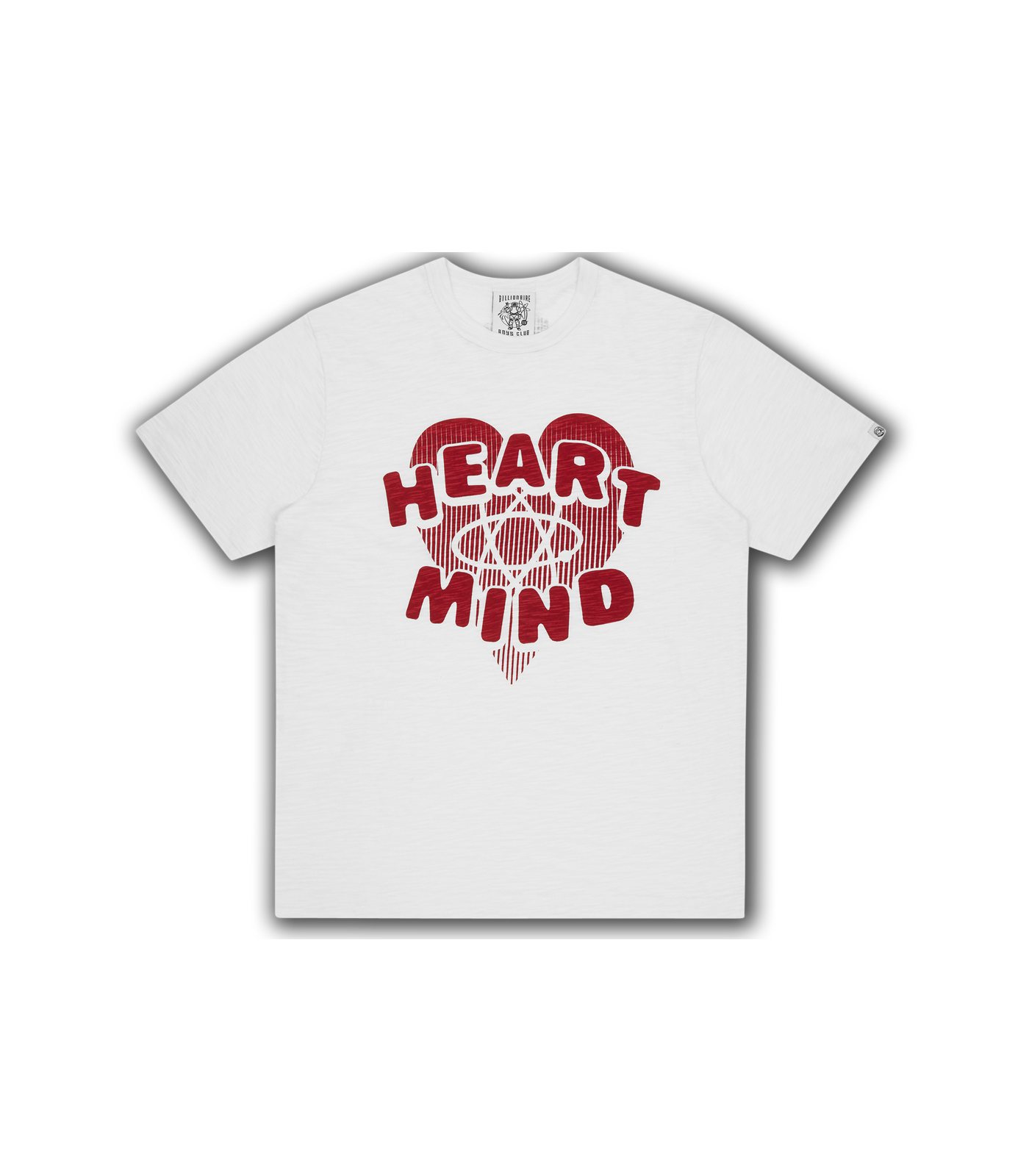 HEART & MIND SLUB T-SHIRT - WHITE