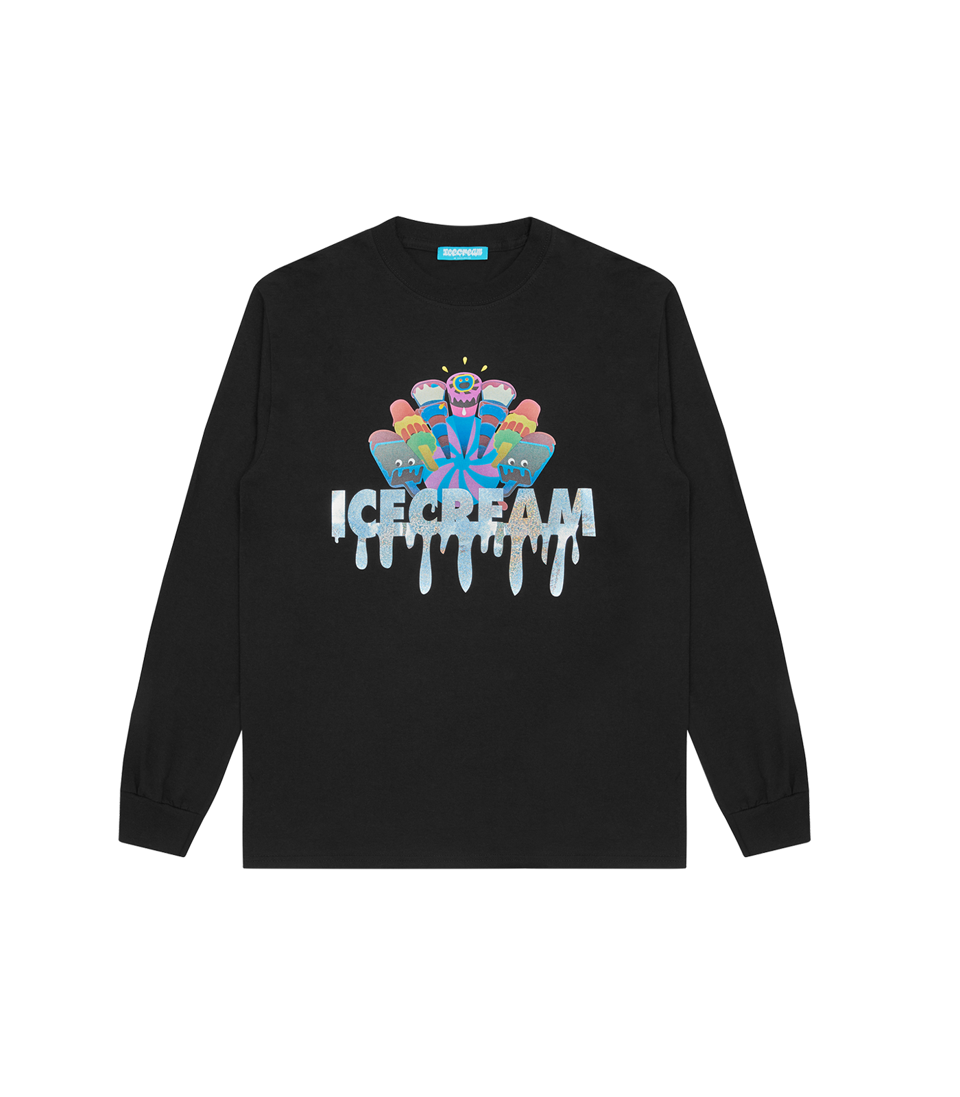 ICECREAM L/S T-SHIRT - BLACK