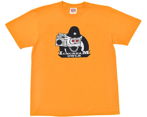 ICECREAM OWL MASCOT T-SHIRT - ORANGE