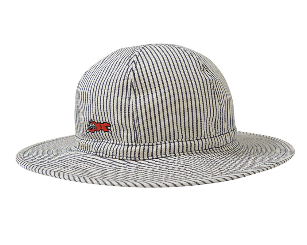 ICECREAM ROUND DENIM BOONIE HAT - HICKORY STRIPE