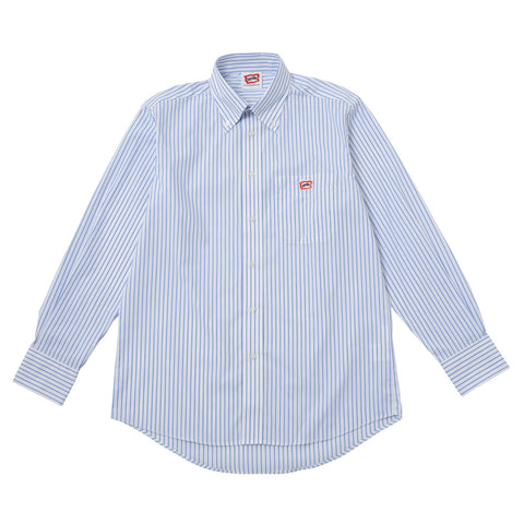 ICECREAM One Point Striped Oxford Shirt - Blue